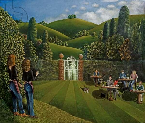 Tootsies Restaurant, 1977 (oil on canvas)