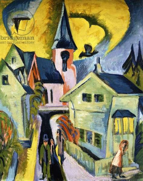 Konigstein with Red Church; Konigstein mit roter Kirche, 1916 (oil on canvas)