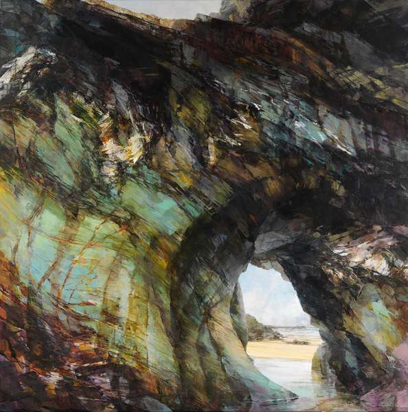 Arch at Tregurrian, 2016 (oil on linen)