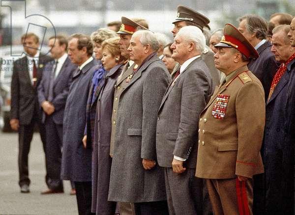 Mikhail Gorbachev in East Berlin, 1989