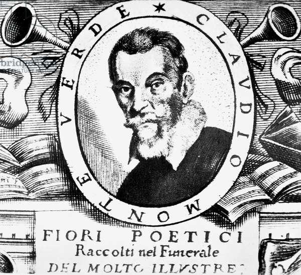 CLAUDIO MONTEVERDI (1567-1643). Italian composer. Line engraving, 1664.