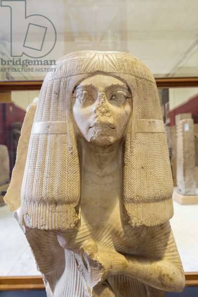 The wife of Nakhtmin, 18th dynasty, unknown provenance, crystalline limestone, Egyptian Museum, Cairo, Egypt
