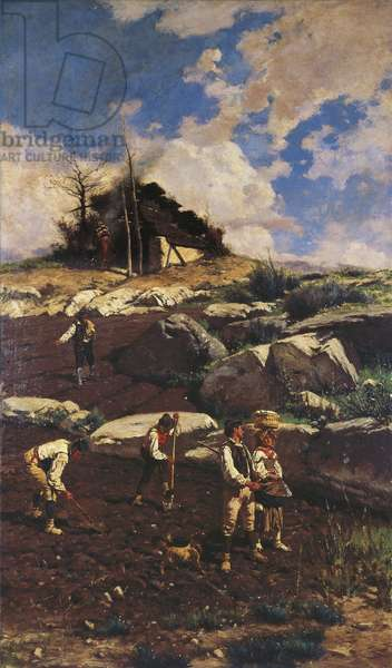 Workers on the Land, by Michele Cammarano, 1885, oil on canvas