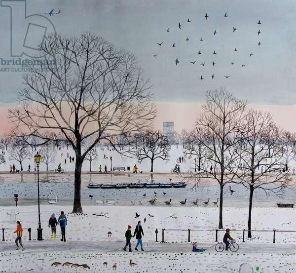 Winter park, 2016, (watercolour)
