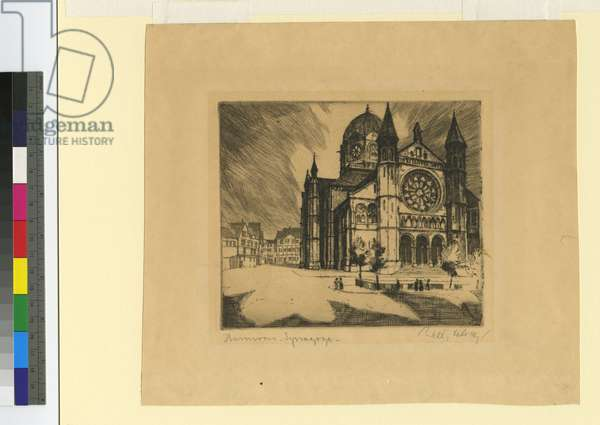 Hannover Synagogue, c.1870 (etching)
