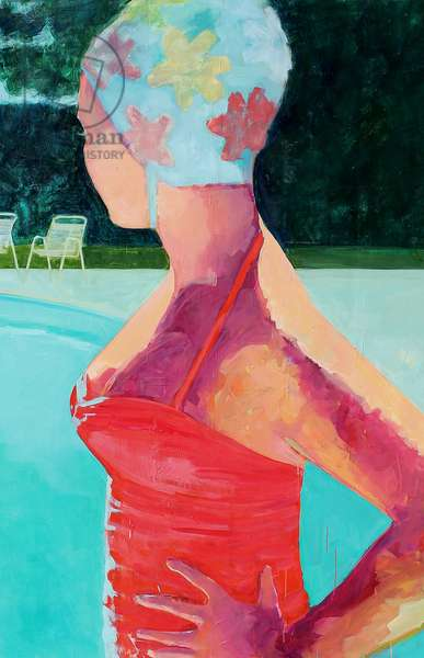 Girl by the Pool, 2012, (oil on canvas)
