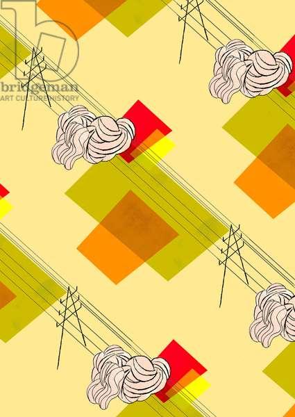 Pylons, 2010, (mixed media)