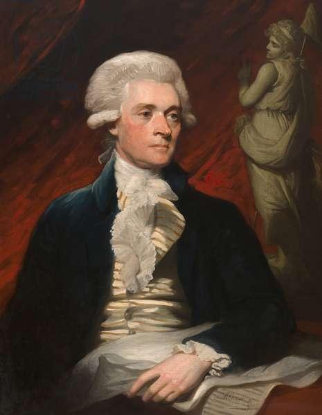 Thomas Jefferson (1743-1826), 1786 (oil on canvas)