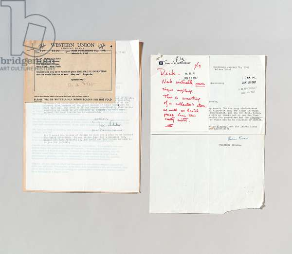 Galley proof sheets for Nabokov's interview conducted by Alvin Toffler, published in 'Playboy', January 1964 (pen & ink and print on paper)