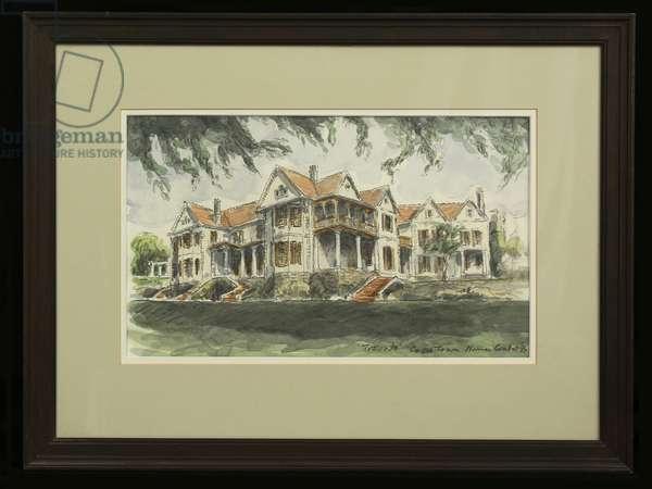 Trovato House, Cape Town, 1994 (pencil and w/c on paper)