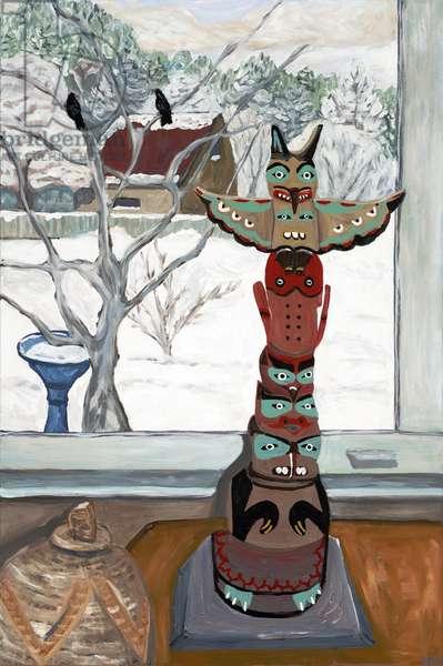 Winter Totem, 2019, (acrylic on canvas)