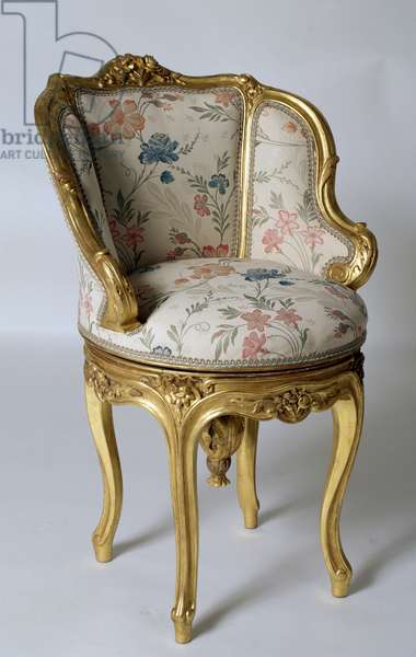 Louis XV style Second Empire (Napoleon III) gilt wood armchair, France, second half 19th century