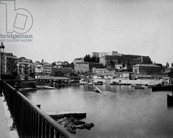 Harbour, Corfu, Greece