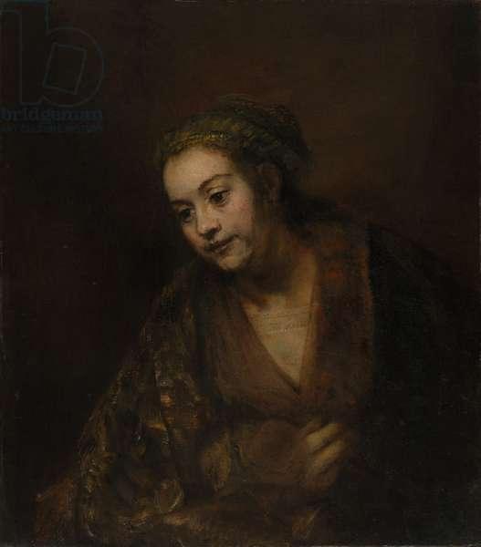 Hendrickje Stoffels, c.1650 (oil on canvas)