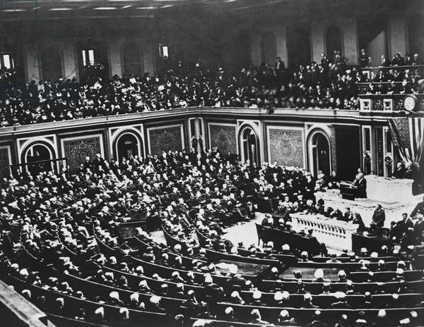 President Wilson's Address to Congress to join the Allies against Germany, April 2, 1917