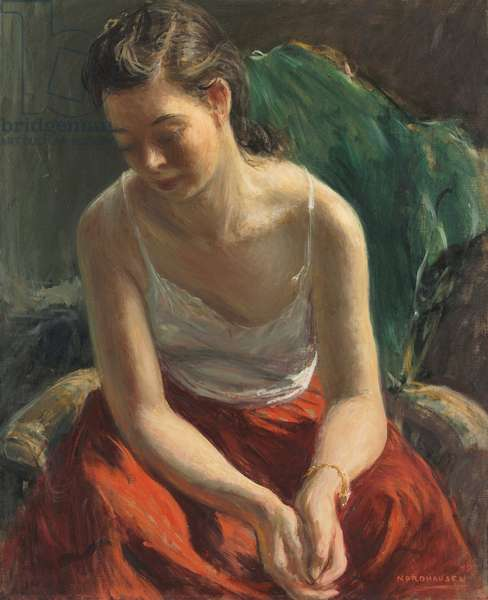 Thoughtful Youth, 1949 (oil on canvas)