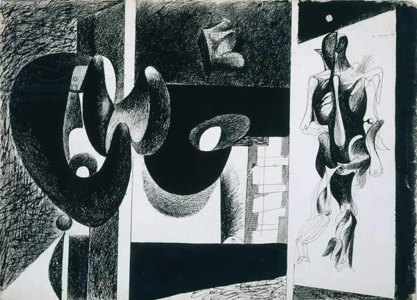 Nighttime, Enigma and Nostalgia, 1931 (ink on paper)