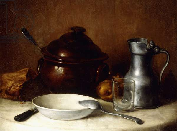 Before the Meal; Avant le Repas (oil on canvas)
