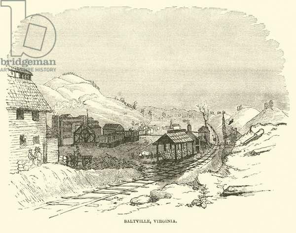 Saltville, Virginia, December 1864 (engraving)