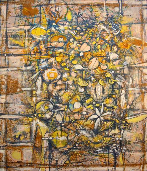 Chirrup and fruit, 1959 (oil on board)