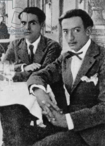 Federico Garcia Lorca with Salvador Dali, c.1925 (b/w photo)