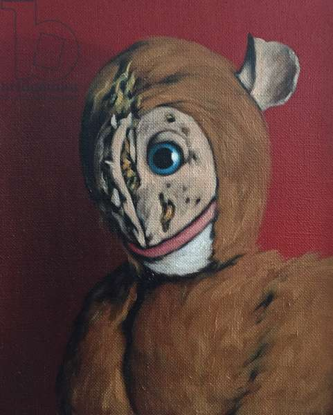 Red Monkey with Scars, 2006, (oil on canvas)