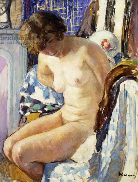 Seated Nude; Nu Assise,  (oil on canvas)