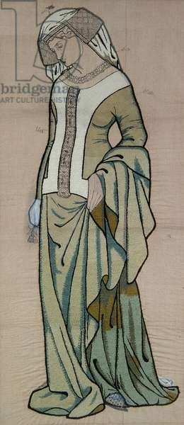 Guinevere, 1860 (wool thread on linen)