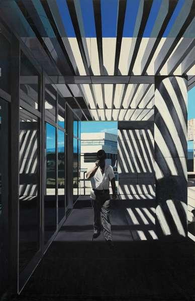 Figure on Walkway I, 1997 (oil on canvas)