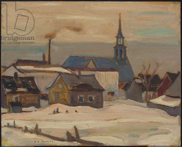 Grey Day, St. Pierre, Montmagny, 1942 (oil on board)