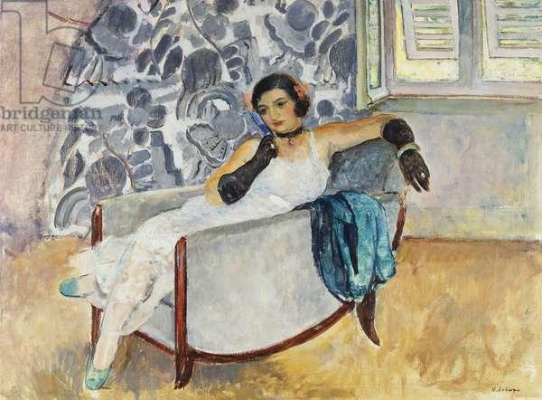 Woman with Black Gloves; La Femme aux Gants Noirs, c.1930 (oil on canvas)
