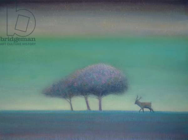 Red Deer with Trees