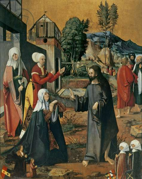 Christ Taking Leave of his Mother, 1506 (oil & gold on limewood panel)