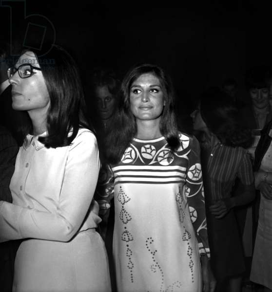 Singers Nana Mouskouri and Dalida for TV Programme