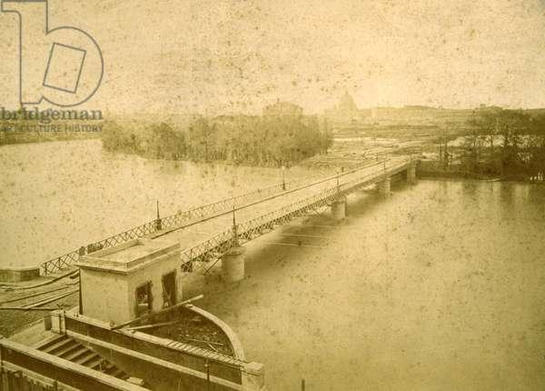 The Porto di Ripetta during the flood of 1878, 1878 (b/w photo)