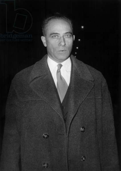 Hirtz at The Barricades Trial Leaving The Law Courts in Paris, January 21, 1961 (b/w photo)