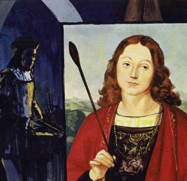 Raphael began to receive his own commissions (colour litho)