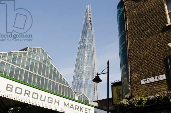 View of Borough Market and the Shard from Park Street, London, England, UK  (photo)
