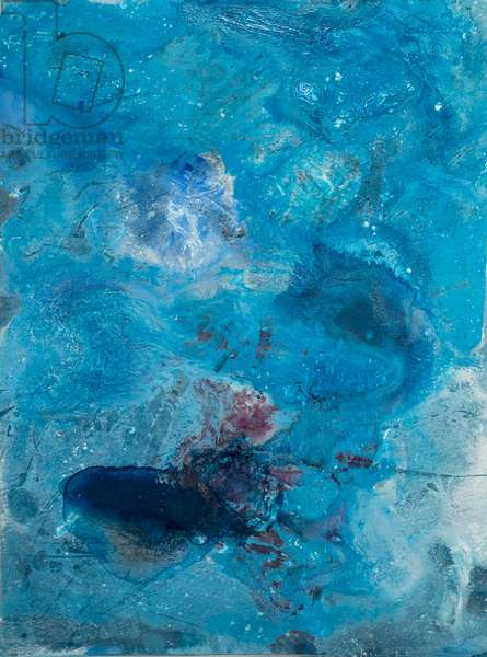 Arctic Ice Painting: 90N8, 2008 (North Pole Ice, acrylic, and mixed media on paper)