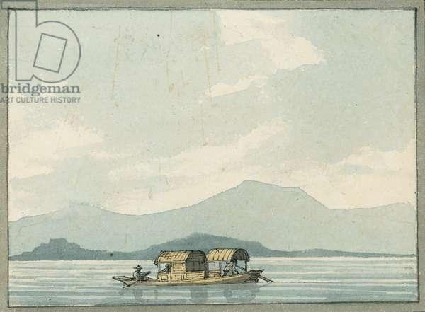 Chinese passage boat, 1809 (w/c)