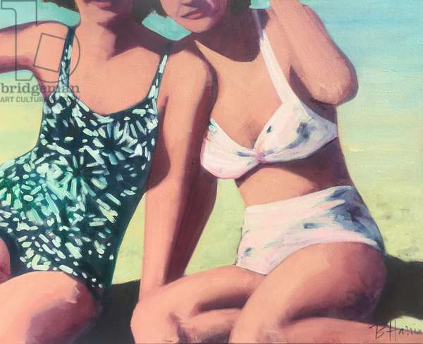 Beach Pals, 2017, (oil on canvas)