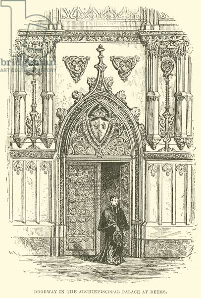 Doorway in the Archiepiscopal Palace at Reims (engraving)