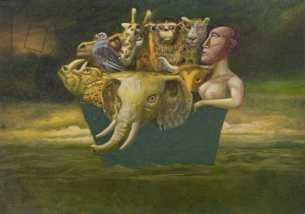 Mrs. Noah and the Lost Arc, 1996 (oil on canvas)