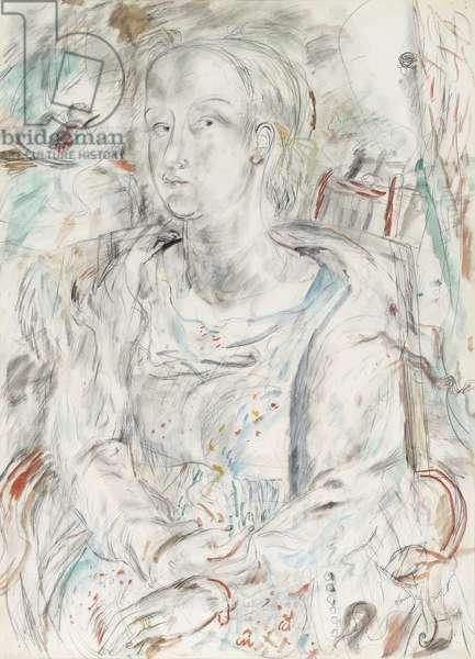 Petra, 1932 (pencil and watercolour)