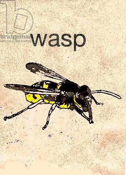 'Wasp' 2014 (monoprint)