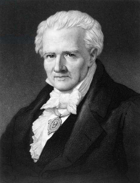 ALEXANDER von HUMBOLDT (1769-1859). German naturalist. Mezzotint, 1859, by John Sartain.