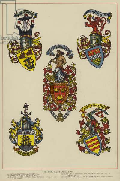 The Armorial Bearings (colour litho)