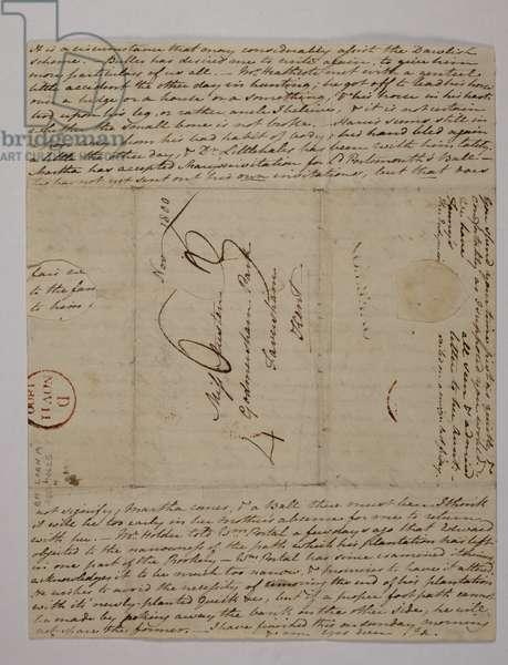 Letter from Jane Austen to her sister Cassandra, 8-9 November 1800
