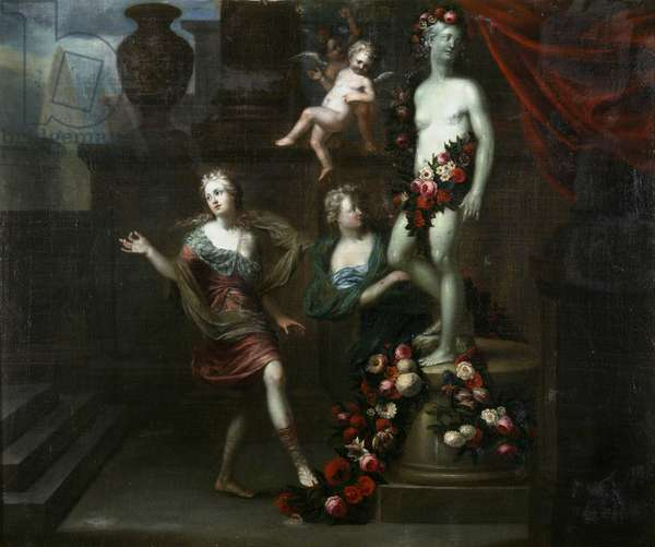 Floral Tributes to Venus (oil on canvas)