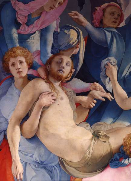 Entombment or Piety, by Carrucci known as Jacopo Pontormo, 1525-1528, 16th century, oil on panel, 313 x 192 cm.
